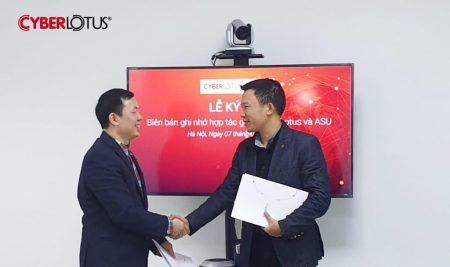 Lễ ký kết hợp tác chiến lược giữa ASU và Công ty Cổ phần CyberLotus